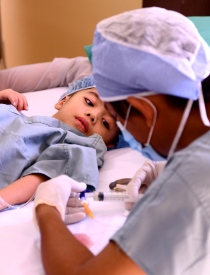young surgery patient